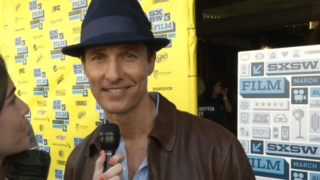 PHOTO:&nbsp;Matthew McConaughey on the red carpet for &quot;Mud&quot; at SXSW in Austin, Texas.