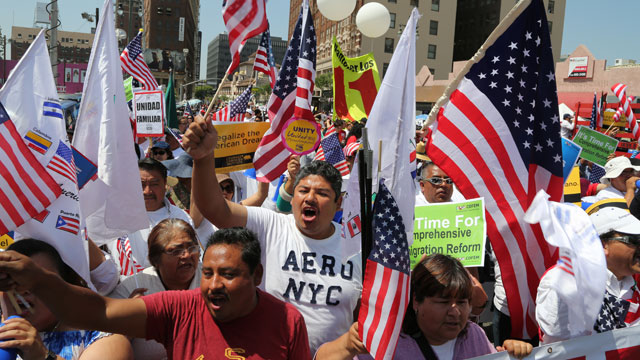 PHOTO: Thousands took to the streets in cities across the United States demanding immigration reform at rallies held on International Workers? Day.