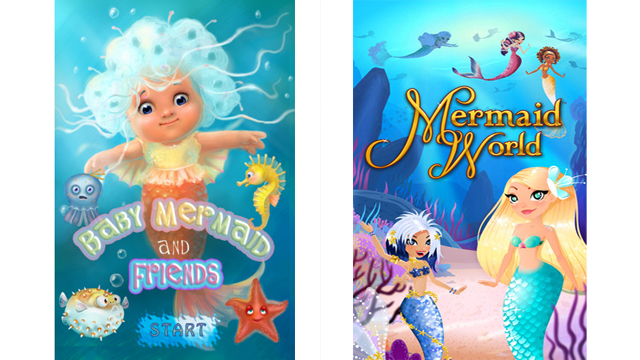PHOTO: Some examples of mermaid apps for iPhone.