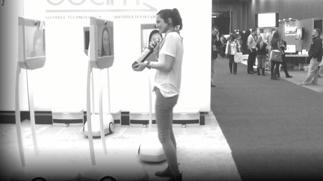 PHOTO:Romina peddling mezcal at the SXSW trade show.