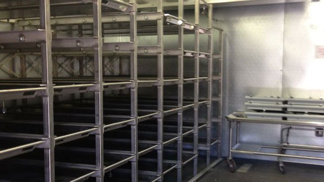 PHOTO:Freezer at the Pima County Medical Examiners Office in Tucson. It was built to handle the overflow of bodies as the summer heats up and migrants begin to die.