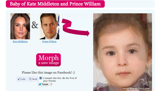 Our morph of what the royal baby will look like.