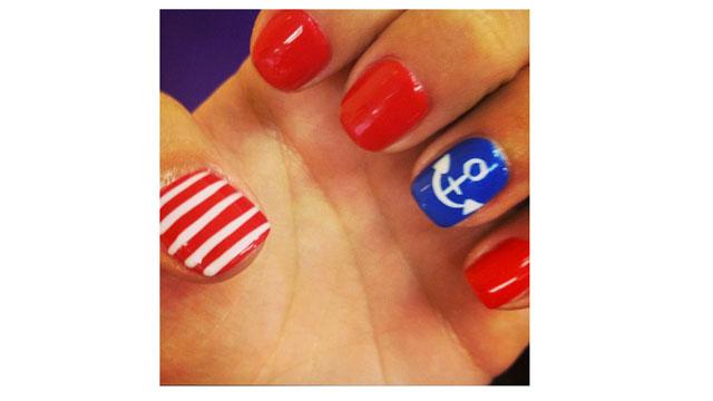 and cute summer nail designs tree pattern shellac nail and spa okc