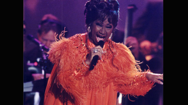 PHOTO: Celia Cruz at Premio Lo Nuestro in 2001.