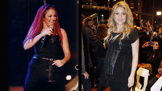 PHOTO: Shakira at Premio Lo Nuestro in 1999 and in Spain in January 2013.