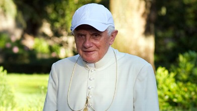 PHOTO:Pope Benedict XVI walks in the gardens of his summer residence on July 26, 2010 in Castel Gandolfo, near Rome, Italy.