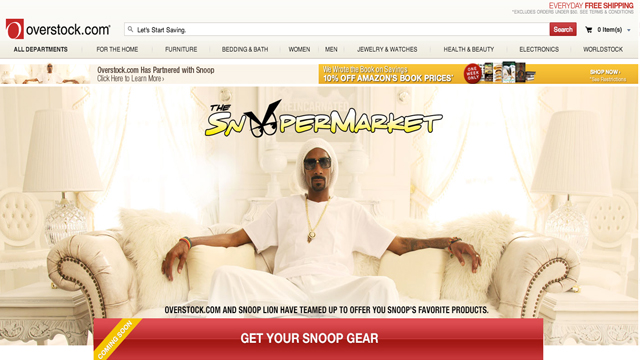 PHOTO: Snoop Lion teams up with Overstock.com