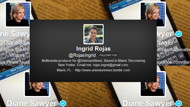 PHOTO: Reporter Ingrid Rojas' most notable Twitter experience.