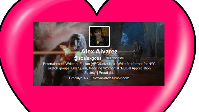 PHOTO: Entertainment reporter Alex Alvarez's most notable Twitter experience.