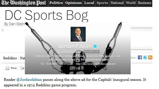 PHOTO: Reporter Jordan Fabian's most notable Twitter experience.