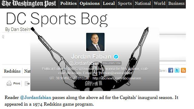 PHOTO:Reporter Jordan Fabian's most notable Twitter experience.