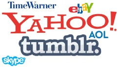 PHOTO: Some of the logos from the list of The Worst Internet Acquisitions.