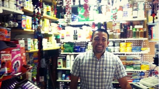 PHOTO: Jose Manuel, a Mexican immigrant to Janesville, built a successful business that sells products from home to fellow immigrants. He?s conflicted about who to vote for.