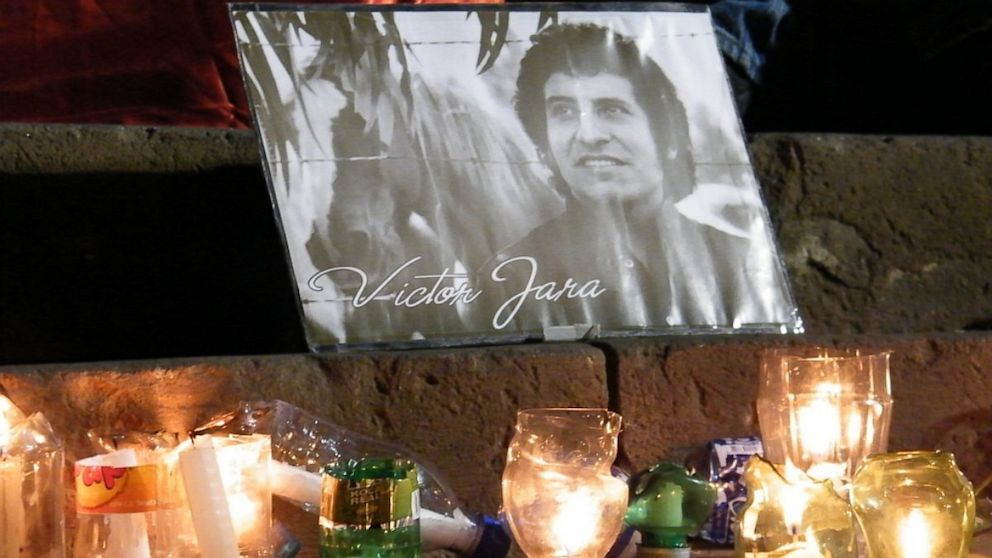 PHOTO: A memorial for Victor Jara, in Arica, Chile. The famous folk singer was tortured and killed by the Chilean military, shortly after the coup that brought Augusto Pinochet into power, on September 11, 1973.