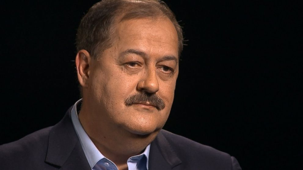 PHOTO: West Virginia coal boss Don Blankenship sits down with ABC News Brian Ross.