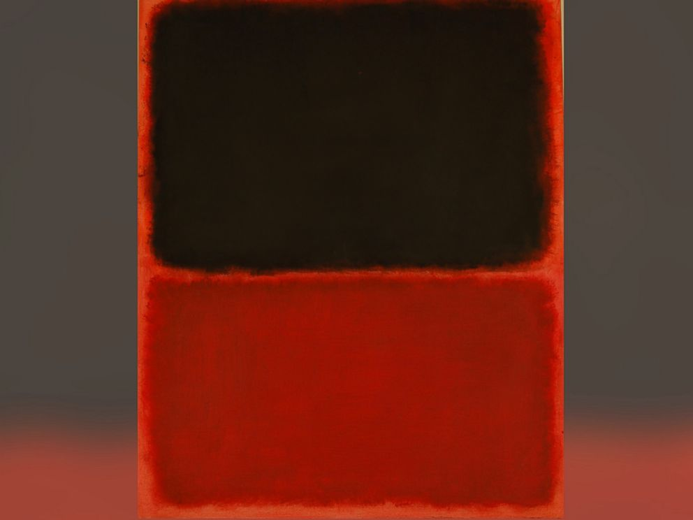 PHOTO: Authorities said this is work, purportedly by Mark Rothko, is actually a fake, used in an art fraud ring.