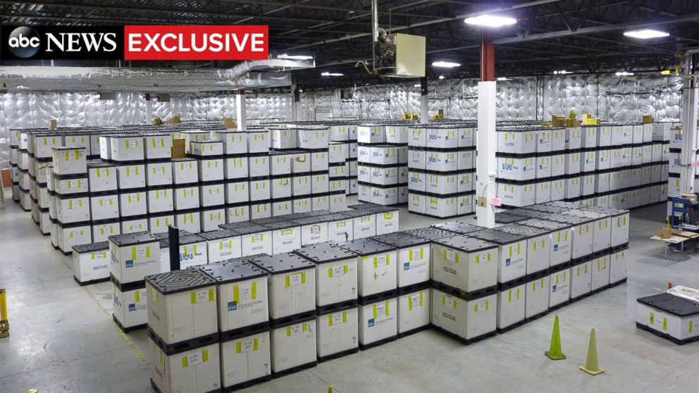 PHOTO: An FBI warehouse just outside Washington, D.C. holds the remains of thousands of explosives used to attack American troops the world over.