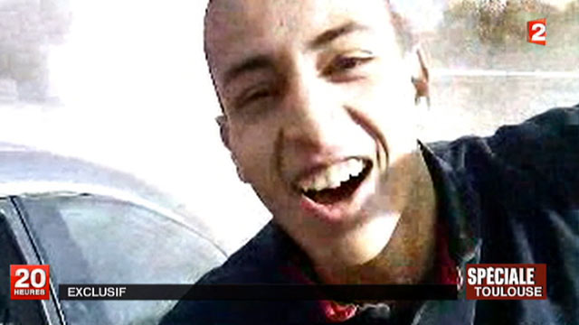 PHOTO: This undated screen grab provided March 21, 2012, by French TV station France 2 shows the suspect, Mohamed Merah, the suspected killer of the Toulouse school shooting.