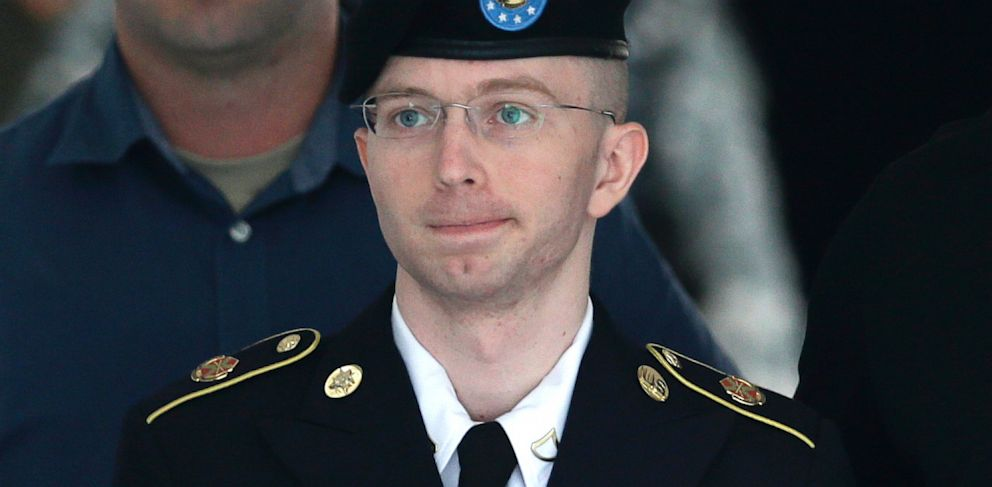 PHOTO: Bradley Manning is escorted out of a courthouse in Fort Meade, Md.