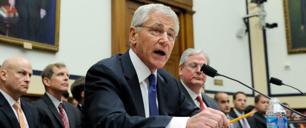 PHOTO: Defense Secretary Chuck Hagel testifies on Capitol Hill in Washington, June 11, 2014, before the House Armed Services Committee.