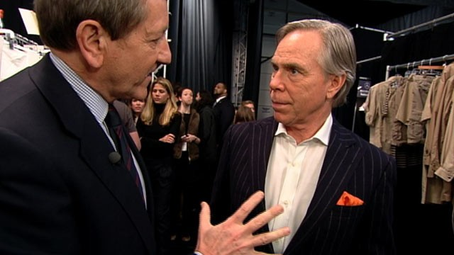 PHOTO: Approached during New York's Fashion Week, designer Tommy Hilfiger said his company maintained a &quot;gold standard&quot; for worker safety.