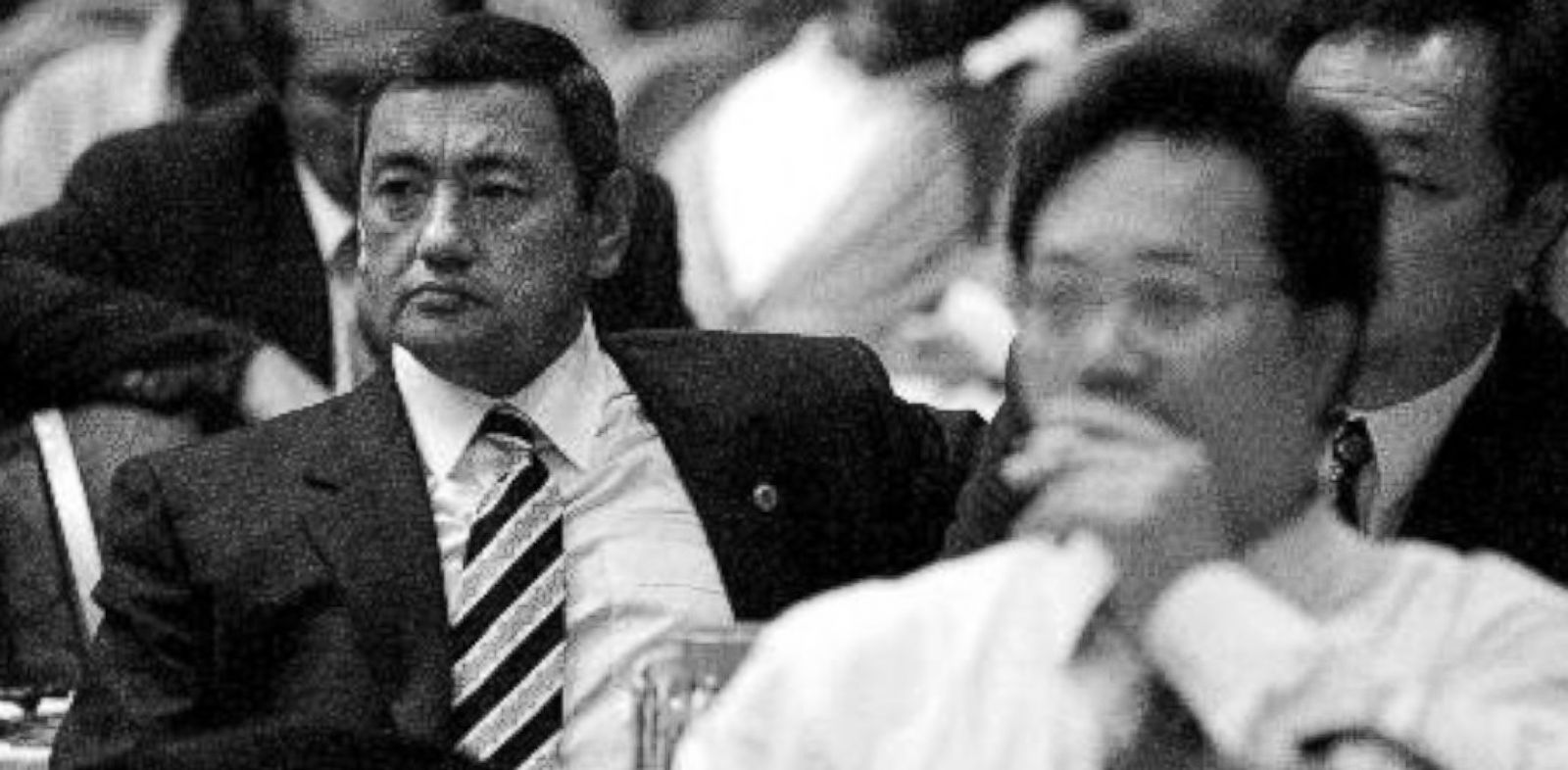 PHOTO: Uzbekistan delegate Gafur Rakhimov, left, during a sports congress in Ankara, Turley, November 1998.