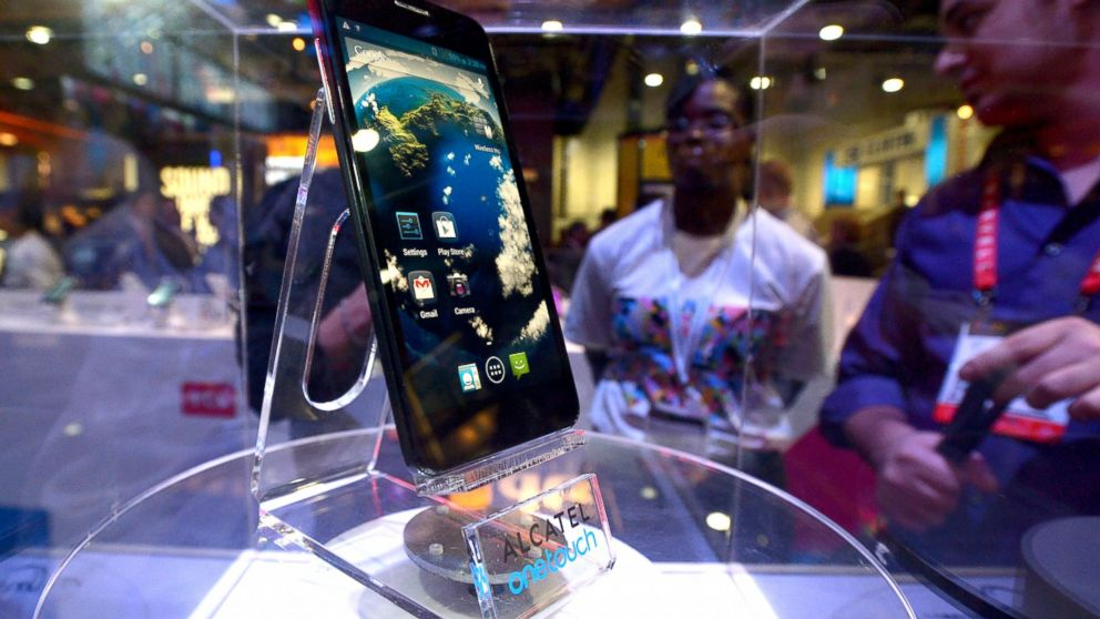 PHOTO: One of Alcatels Onetouch smartphone models is displayed at the 2013 International CES at the Las Vegas Convention Center in Las Vegas, Nevada, Jan. 10, 2013.