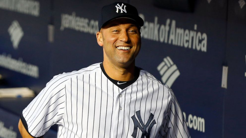 PHOTO: In this file photo, Derek Jeter looks on before a game against the Tampa Bay Rays at Yankee Stadium on Sept. 25, 2013 in the Bronx, New York City.