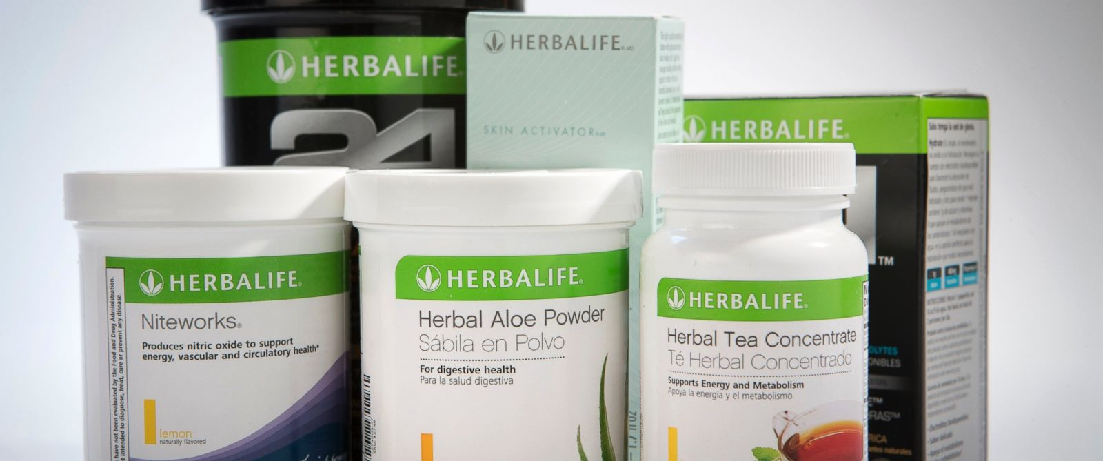 PHOTO: Herbalife Ltd. products are arranged for a photograph in New York, Jan. 10, 2013.