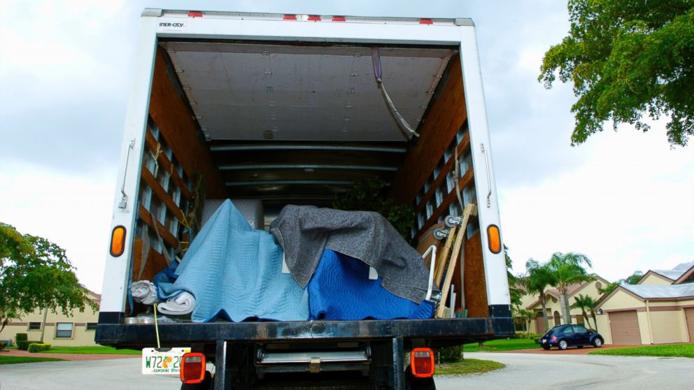 PHOTO: A truck on moving day.