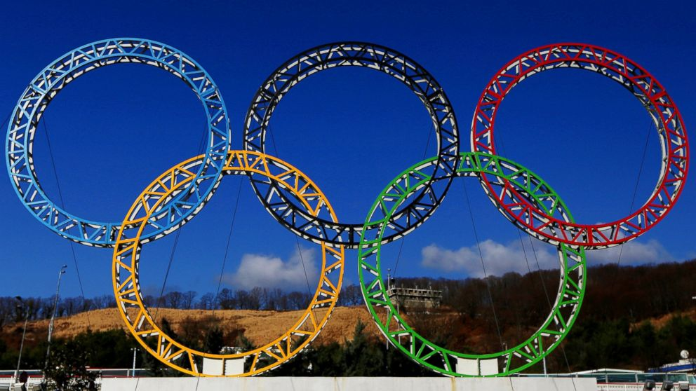 PHOTO: The Olympic Rings stand outside of Sochi International Airport on Jan. 8, 2014 in Alder, Russia.