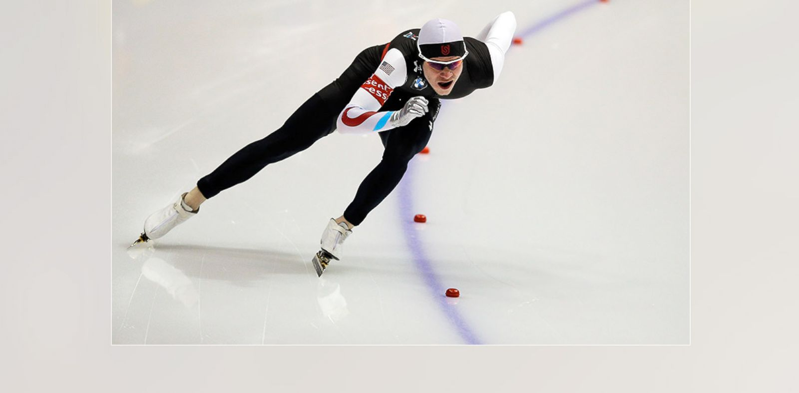 PHOTO: Tucker Fredricks of USA competes in the 500m Men race on Day 3 of the Essent ISU World Cup Speed Skating Championships 2013, March 10, 2013 in Heerenveen, Netherlands.
