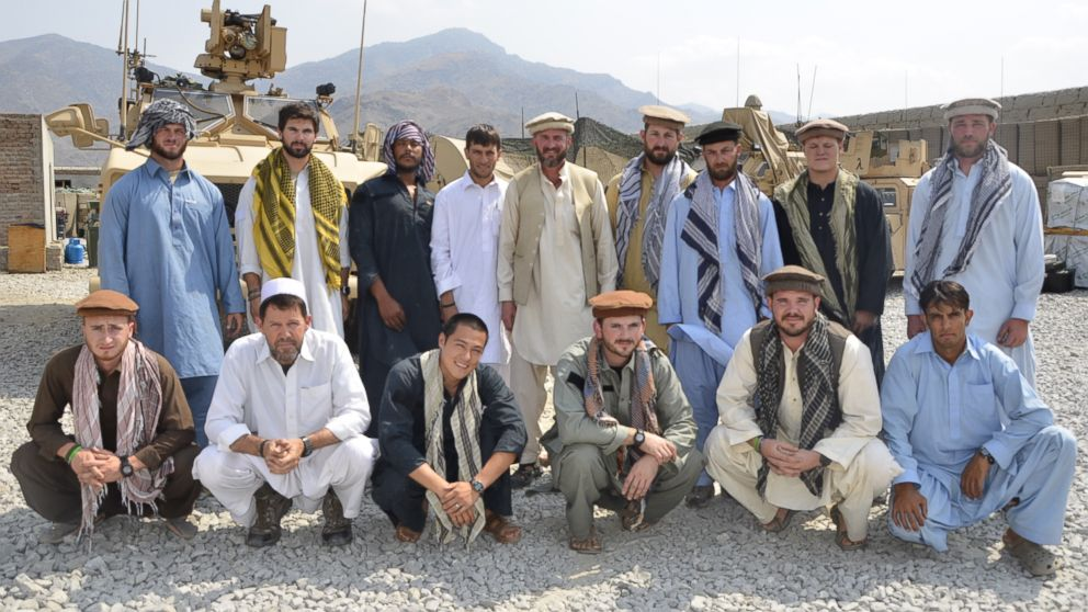 PHOTO: Former Special Forces Maj. Jim Gant, center, insisted that his troops dress like locals in eastern Afghanistan to better win their trus