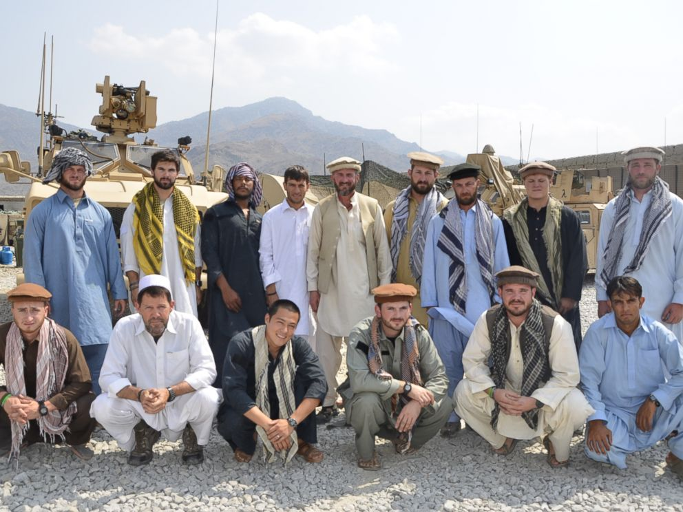 PHOTO: Former Special Forces Maj. Jim Gant, center, insisted that his troops dress like locals in eastern Afghanistan to better win their trust.