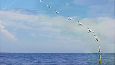PHOTO: The NRL developed XFC unmanned aircraft is launched from a Sea Robin launch vehicle.