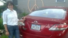 PHOTO: Terri Finley wrote in to the ABC News Fixer, saying her car was damaged by a Pizza Hut delivery person.