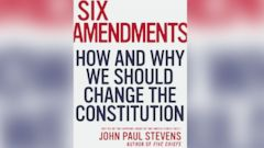 "PHOTO: Cover art for John Paul Stevens book, ""Six Amendments."""