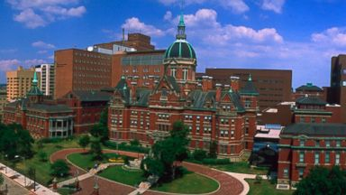 PHOTO: Panoramic view of the Johns Hopkins Hospital Campus in Baltimore.