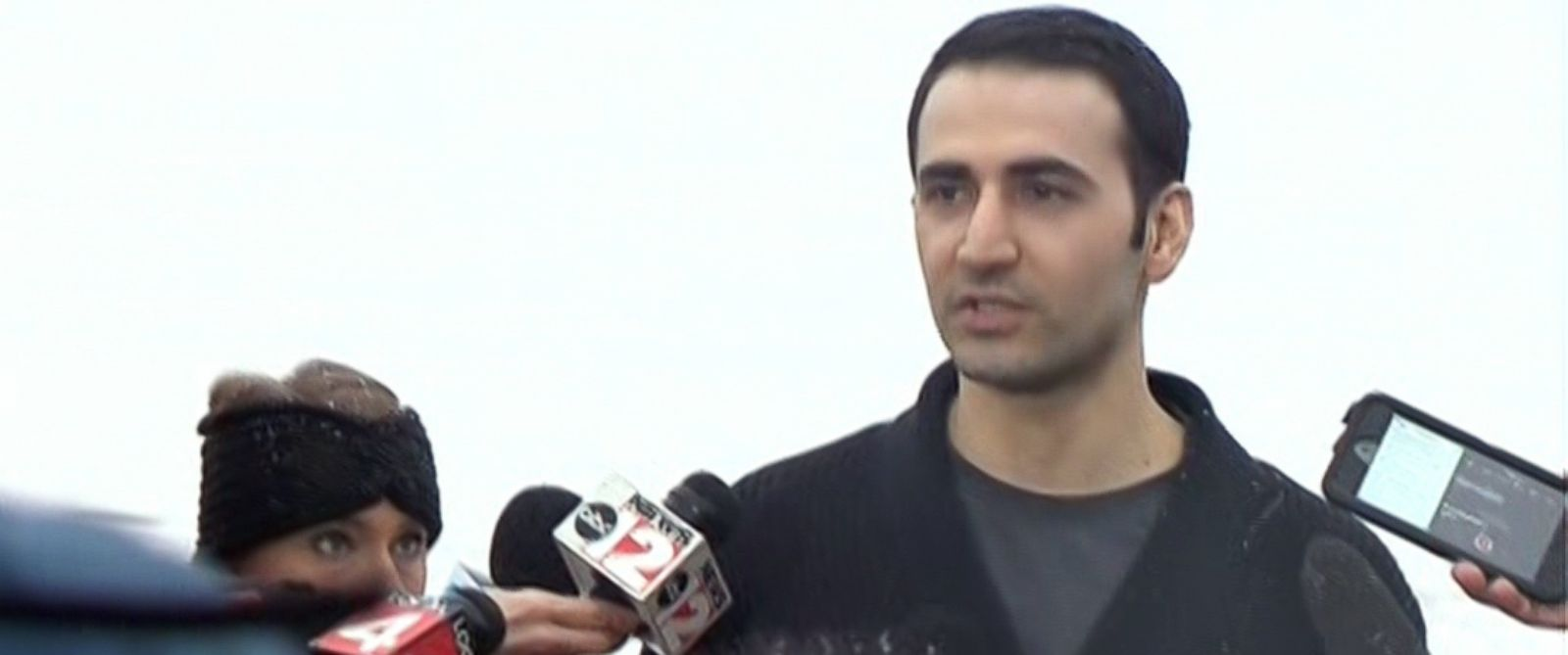 PHOTO: Amir Hekmati speaks to reporters in Flint, Michigan, Jan. 21, 2016.