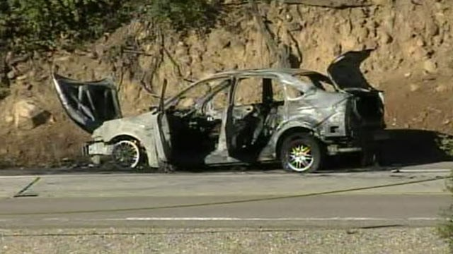 PHOTO: The driver has died and a Border Patrol agent has been airlifted to the hospital after a car that was being chased by the Border Patrol near the Mexican border exploded when it was forced to stop.