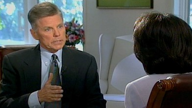 PHOTO:Anchor Connie Chung's interview with Congressman Gary Condit.