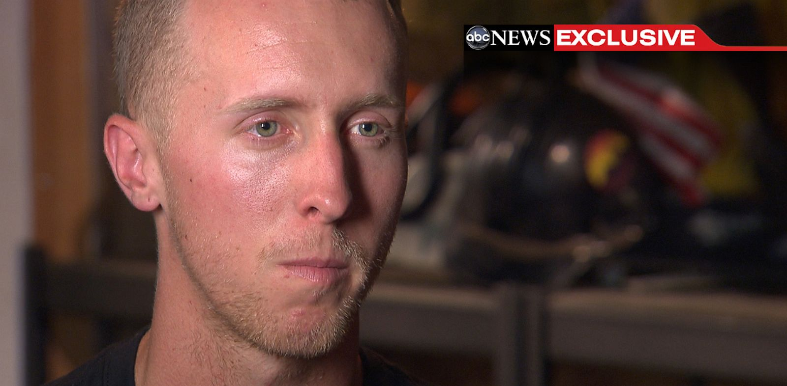 PHOTO: Brendan McDonough, speaking here in an exclusive interview with ABC News, was the only member of his 20-man Granite Mountain Interagency Hotshot firefighting crew to survive the Yarnell Hill Fire in late June 2013.
