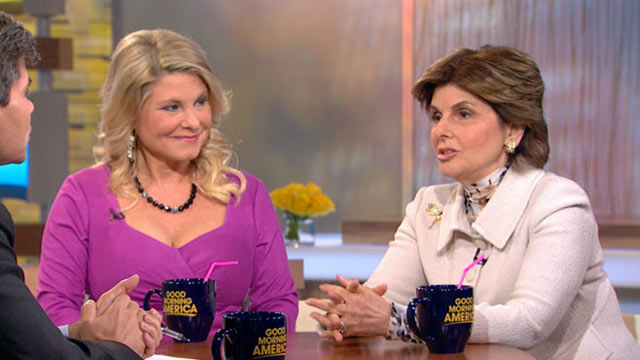 PHOTO: Sharon Bialek, Herman Cain Accuser,  Appears on Good Morning America with her lawyer Gloria Allred, Nov. 08, 2011.