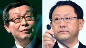 Toyota executives Yoshimi Inaba and Akio Toyoda