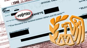Photo: Cases have been reported where Internal Revenue Service employees have stolen taxpayer checks and manipulated them so that they could be cashed.