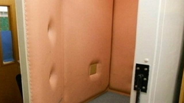 PHOTO: The &quot;isolation booth&quot; at Mint Valley Elementary School in Longview, Washington. Pictures of the booth were placed on-line by a local mother who called the booth abusive, according to Portland, Oregon ABC affiliate KATU. A local public school offici