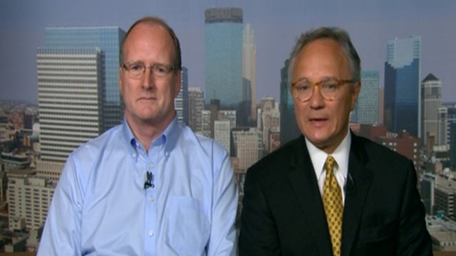 PHOTO: Dr. Jack Drogt, right, appears on &quot;Good Morning America,&quot; July 17, 2012, after he found a needle in a sandwich on a Delta airlines flight from Amsterdam to Minneapolis on July 16, 2012.