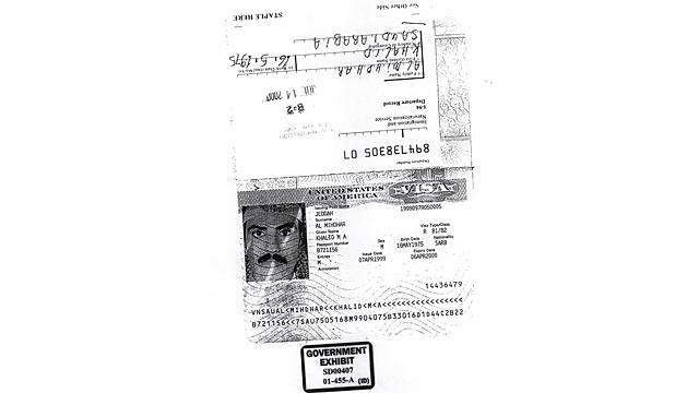 PHOTO: Khalid al-Mihdhar's US visa.