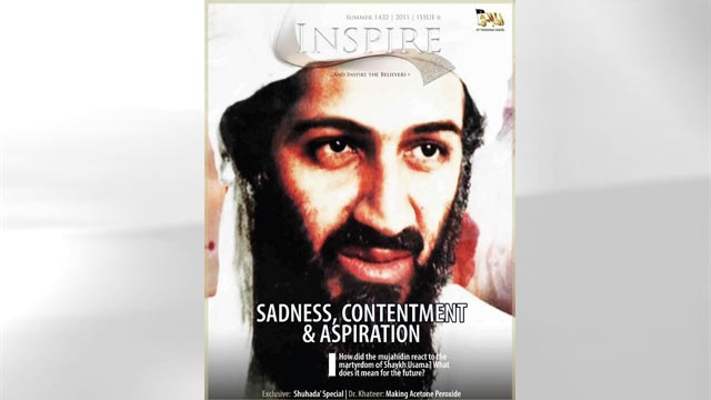 PHOTO: A new edition of Al Qaeda's official magazine claims that Osama bin Laden fought back in a
