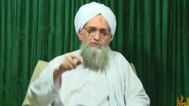"PHOTO: Al Qaeda leader Ayman al-Zawahiri released a 13-minute video Tuesday that celebrates what he calls Americas ""defeats"" in Iraq and Afghanistan."